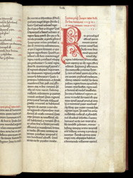Decorated Initials And Colour-Note, In Paulus Orosius's 'The Seven Books Of History Against The Pagans' f.15r